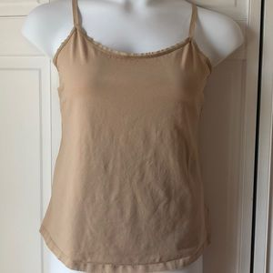 Lame Bryant tan cotton camisole, 14/16